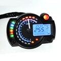 Универсальный цифровой спидометр для мотоцикла  7 цветов  ЖК-дисплей  спидометр  тахометр  одометр  регулируемый инструмент r25