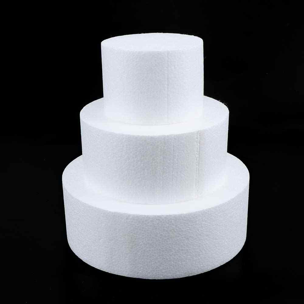 4/6/8 Inch Round Styrofoam Foam Cake Dummy Modelling Bakeware Cake model Display Stand Cake Tools Accessories
