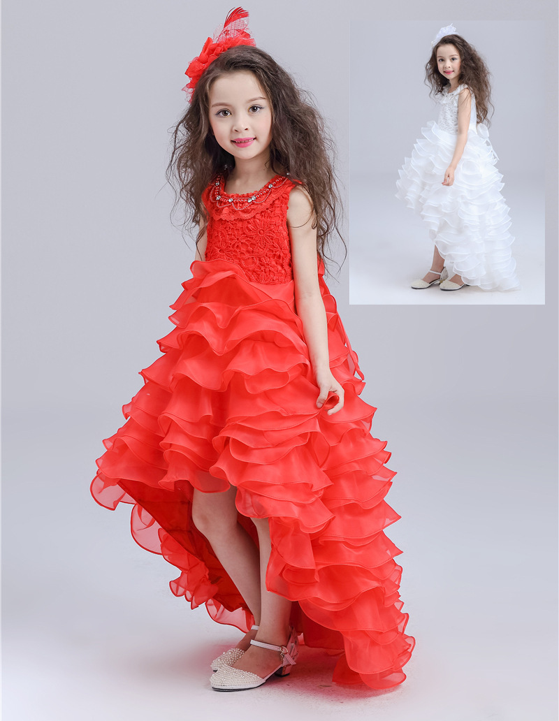 Free Shipping Retail Girl Dresses Children Dress Party Princess Baby Girl Wedding Dress Birthday Christmas 2 Colors 1290 2017 free shipping hot retail