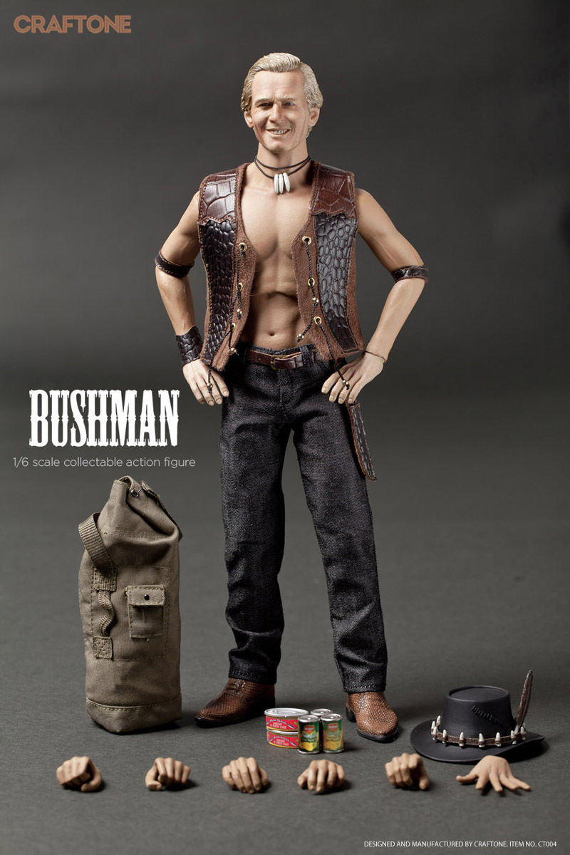 1/6 Scale Bushman Crocodile Dundee 004 Collectible Action Figure Super Flexible Model Dolls  Hot Toys Collections pocket bushman cold steel