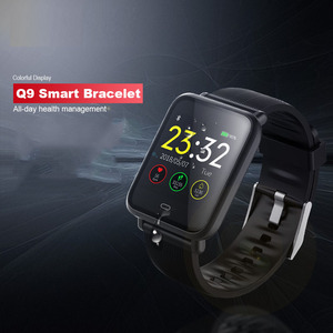 Image 1 - Q9 Blood Pressure Heart Rate Monitor Smart Watch IP67 Waterproof Sport Fitness Trakcer Watch Men Women Smartwatch