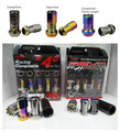50 MM Project Kics Racing Composite R40 Lug Nuts Neo Chrome 12x1.5 Pitch Closed End