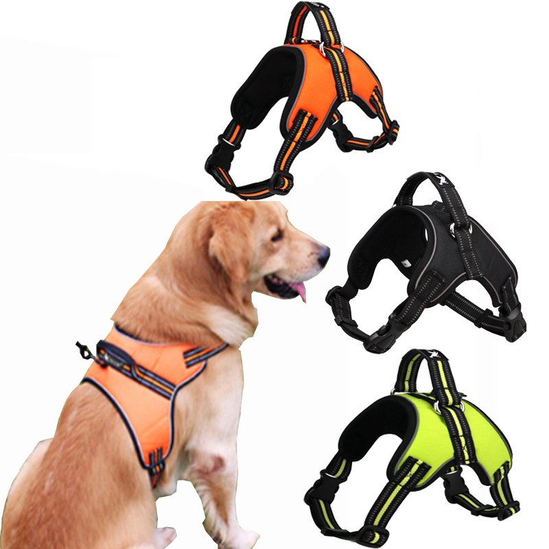 TAILUP Dog Harness Vest With Safety Reflective Breathable Pets Dog Vest NO Pull Handle Dog Harness For Small Medium Large Dog Собака