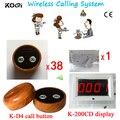 Wireless Sound System K 200CD Display + K D2 wooden Summer Kabellosen Kellner rufsystem-in Pager aus Computer und Büro bei