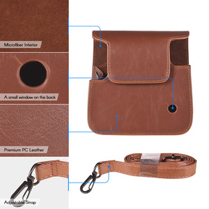 Image 3 - Andoer PU Leather Protective Camera Case Bag for Fujifilm Instax Square SQ6 Instant Film Camera Bag with Adjustable Strap