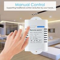 220v 30A Smart Time Setting Switch For Water Pump 433MHz Wireless Remote Control Switch Interruptor Control