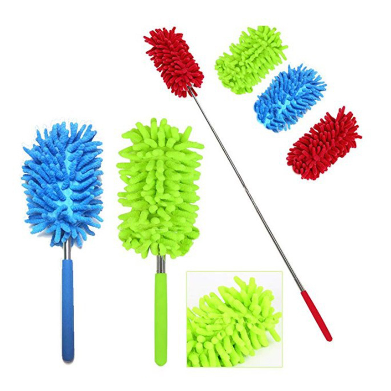 Adjustable Microfiber Dusting Brush 2019 Extend Stretch Feather Home Duster Air-condition Car Furniture Household Cleaning Brush