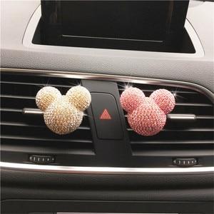 Image 3 - Luksusowy odświeżacz do samochodu diamentowy klimatyzator wylot klip dekoracja wnętrz odświeżacz powietrza do samochodu Car Styling perfumy 100 oryginalny