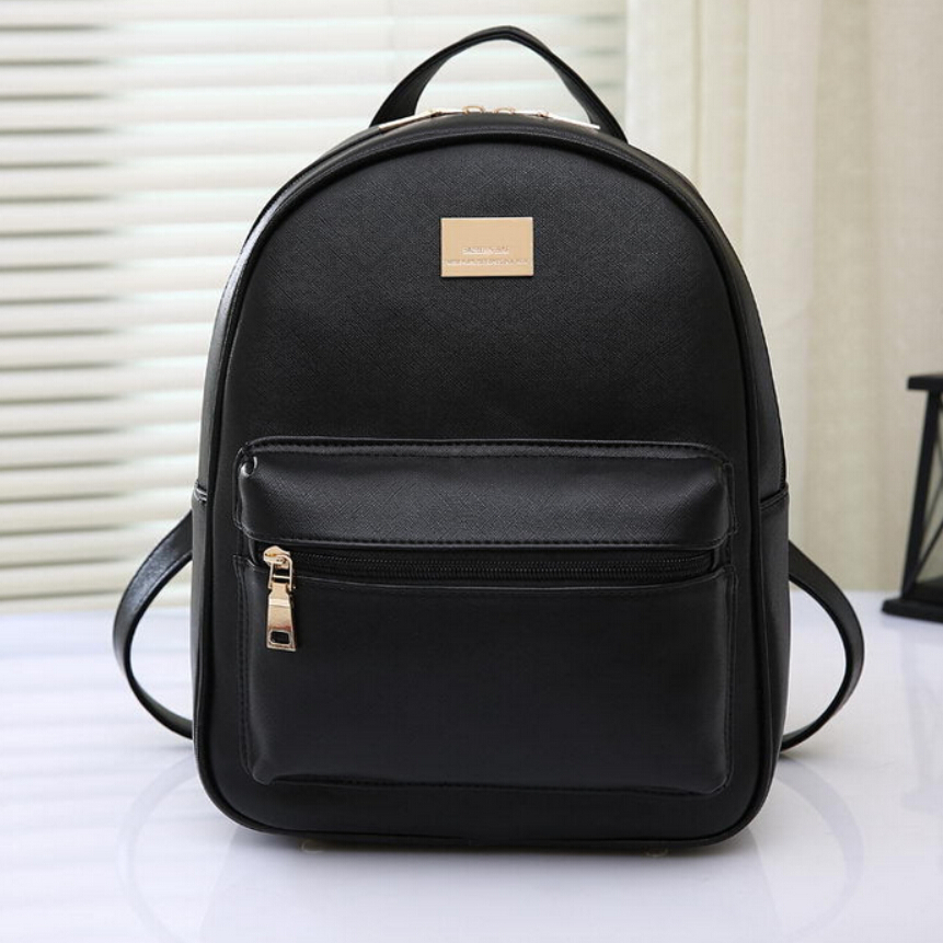 NºWomen Genuine Leather ᗖ Backpack Backpack School Bags ...