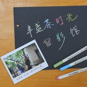 Image 2 - Foto Libro de Autógrafos de Graffiti Pluma Marcador Plumas de Pintura Impermeable para Fujifilm Instax Mini 8 Cámara de Cine Accesorios de Fotografía