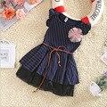 Roupas de bebê Menina Princesa Vestido de Verão 2016 Da Criança Meninas Vestidos de Impressão ponto Crianças Vestidos para Meninas Crianças Grife Vestido