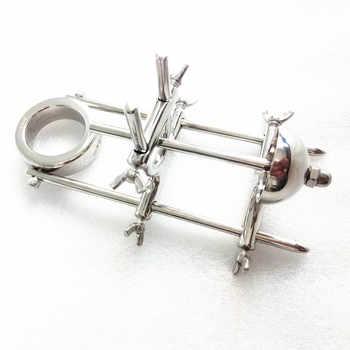 stainless steel penis extender device penile extension physical training exercise cock bondage torture cbt sex toys for men