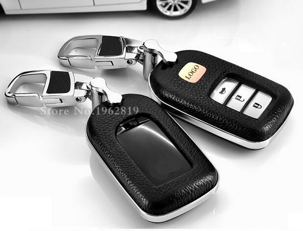 Подарок Кожи высокого качества Стайлинга Автомобилей Ключ Крышка Для Honda 2015 2016 Нефрита VEZEL XRV для CRV CR-V Accord ключ аксессуары