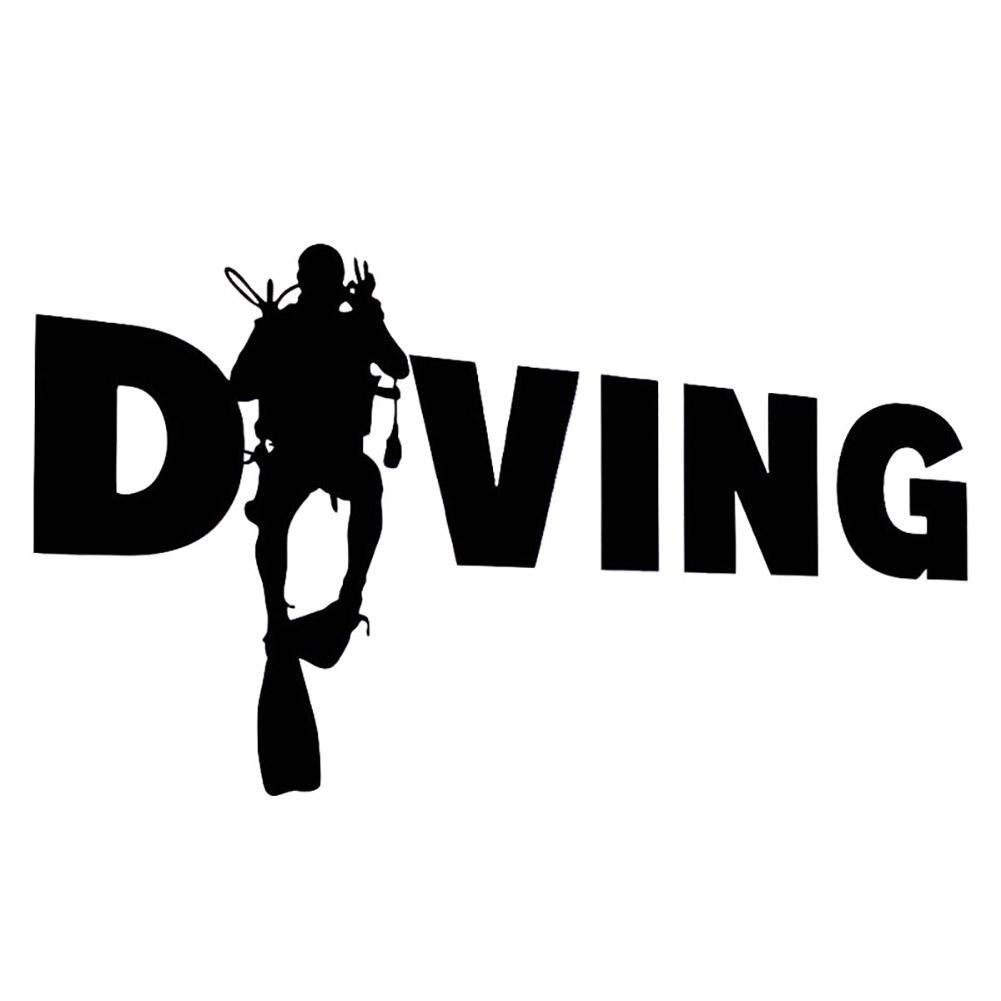 RATHER BE DIVING Springboard Diver FEMALE Vinyl Decal Sticker B