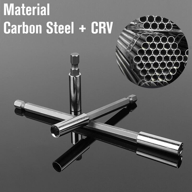 1//4 Inch Quick Change Hex Shank Drill Bit Holder Magnetic Extend Socket Natural