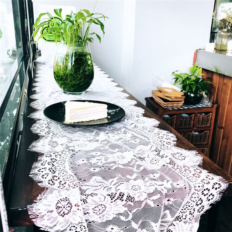 Wedding Decoration Table Runner 35X300cm White Lace Chair Sash Cloth Party Home Decor