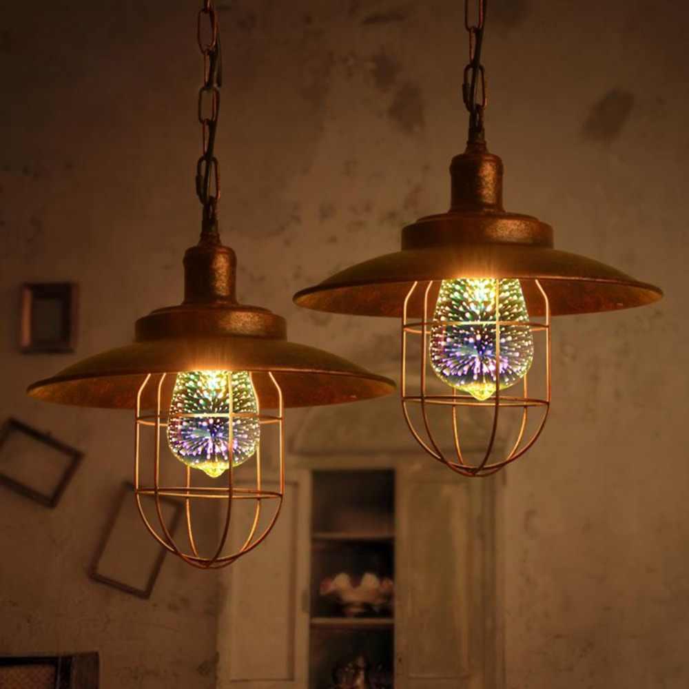 Creative LED לילה 3D אור E27 110 V 220 V LED זיקוקין 3D נופש נורת אור מנורת קישוט בית חג המולד וינטג A60 G80 G95