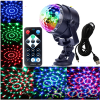 Mini Magic Crystal Ball Strobe Lamp Sound Activated Party Disco DJ Stage Light With Remote Bar