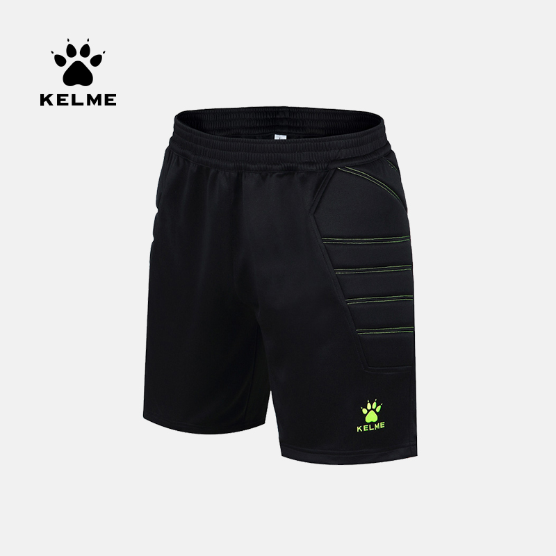 KELME Men Goalkeeper Shorts Survetement Football Soccer Training Male Sport Shorts Protector Sweatpants K15Z408