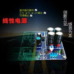 Wielu kanałów liniowy zasilacz AC-DC niskie tętnienia prądu stałego moduł regulatora 3.3 V + 5 V + 12 V regulowane wyjście