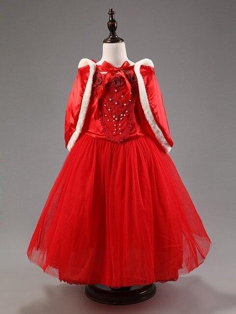 4cb8c12efac 2017 nouvelle robe de fille d hiver enfants sweat à capuche rouge robes de  princesse