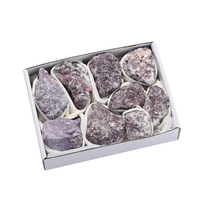 New Arrive 800 1050g Lithium Mica Material Mineral Stone Gray Purple Color Crystal Rough Stone Crafts Gift For Collection