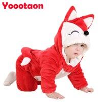 Wysokiej jakości piękne ubrania dla dzieci Jedno-sztuk dla Kombinezon Baby Girl Pajacyki newborn Cartoon Zwierząt Flanelowe Boy ubrania kostium