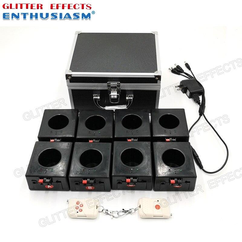 BD08 8 canali ricaricabile ricevitore doppio telecomando fontana di base della macchina del fuoco per la cerimonia nuziale