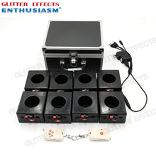 BD08 8 channels rechargable receiver double remote control fountain base fire machine for wedding