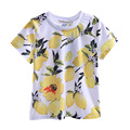 Pettigirl 2017 New Fashion Summer Boys Yellow Lemon T shirt Print Clothes For Kids Prince Casual Children Clothing BT90314-08L