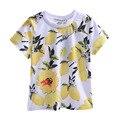 Pettigirl 2017 novos meninos moda verão amarelo lemon t impressão da camisa roupas para crianças bt90314-08l prince crianças roupas casuais