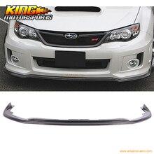 Fit For 2011 2014 Subaru Impreza WRX STI E Style Front Bumper Lip Carbon Fiber