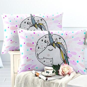 Colorful Princess Unicorn Bedding Set