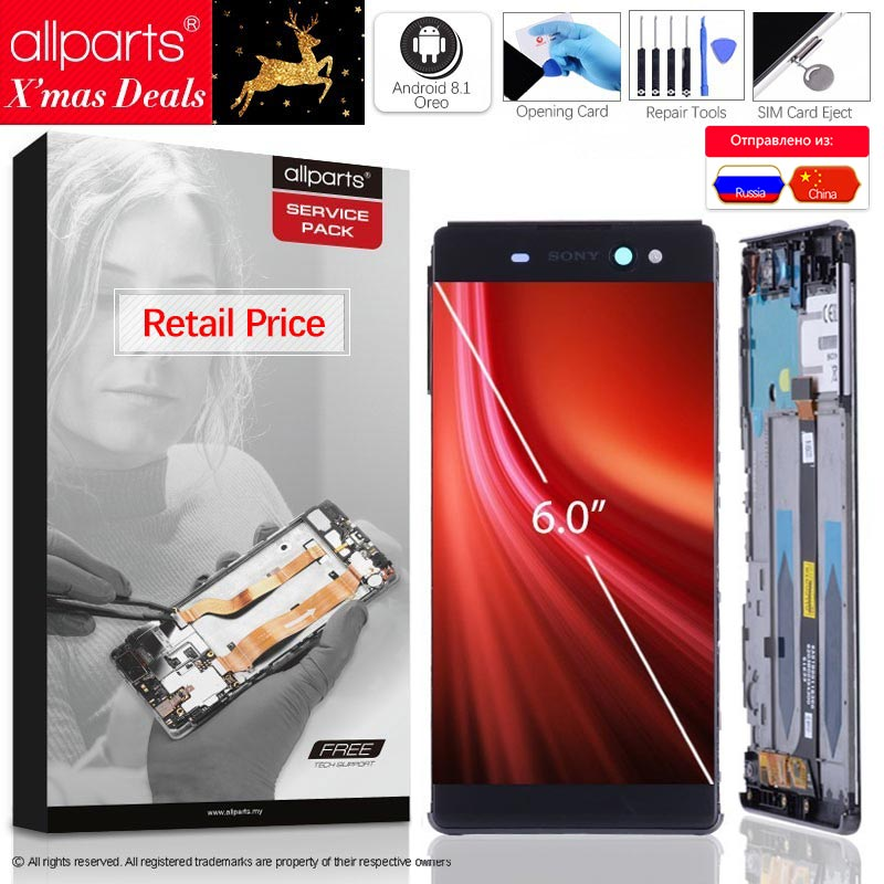 IPS Оригинальный тачскрин дисплей экран для sony Xperia XA Ultra сенсорный дисплей Оригинал LCD с тачскрином в рамке замена запчасти F3211 F3212 XA Ultra Черный ...