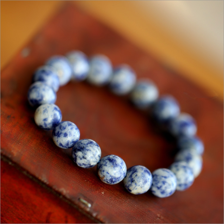Fashion Natural Blue Stone Men Bracelet 1