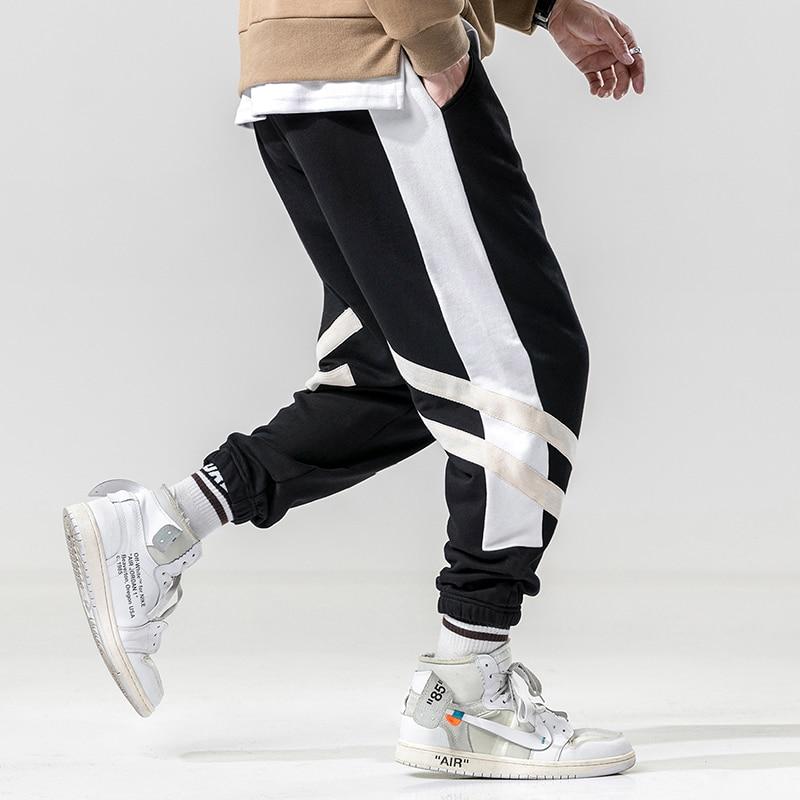 Fashion Style Brand New Pants Men Fashion 2019 All Match Cargo Pants Men Hip Hop Side Stripe Loose Sweatpants Streetwear Joggers Men Removing Obstruction
