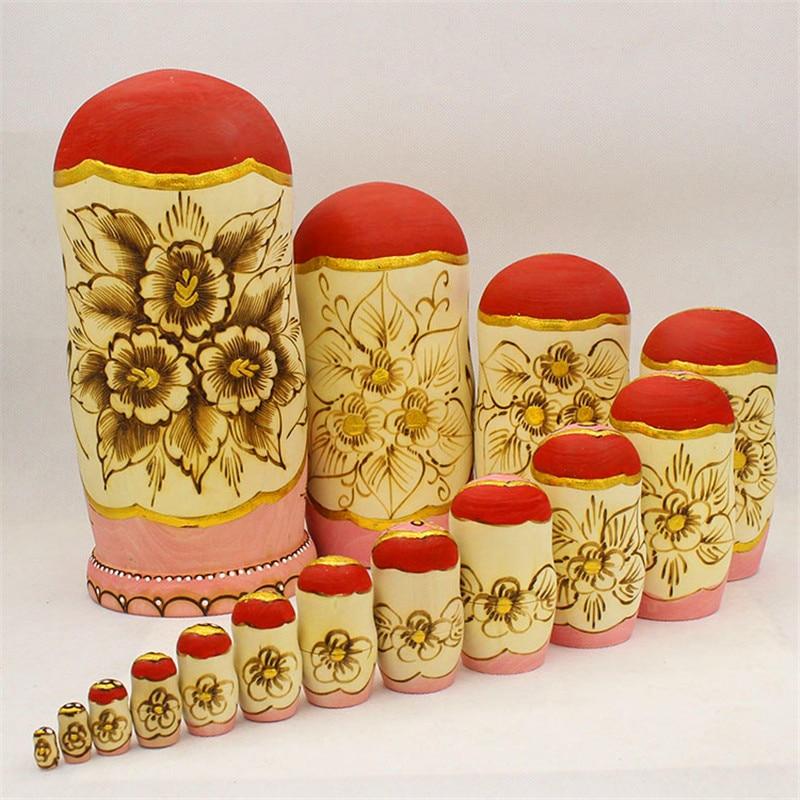 Hoogwaardige 15 Layer Gesneden Matryoshkapop Droog Basswood Russische Nest Pop Formaldehydeless Houten Enducation Speelgoed L30-in Poppen van Speelgoed & Hobbies op  Groep 2