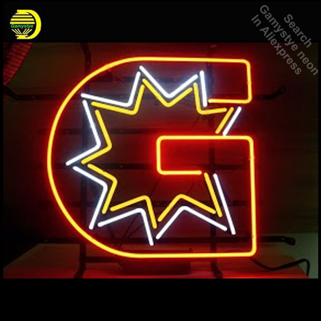 Neon Sign for G sHAPE Star Classic Neon Bulb sign handcraft neon signboard boat icons luces neon wall lights anuncio luminos