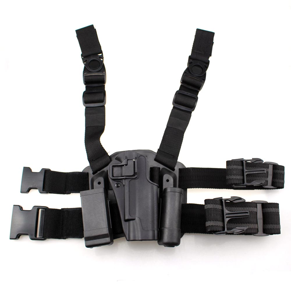 ФОТО Tactical 1911 Holster Quick Military Right Hand Paddle Leg Belt Thigh Hard Drop Pistol Gun Holster for Colt 1911