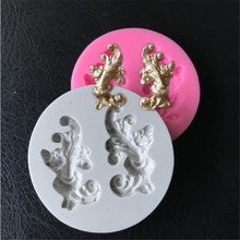 Baroque Scroll Sugarcraft Flower Silicone mold fondant cake decorating tools chocolate Cake Border Decorating Tools