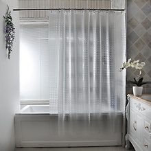 1PC Bath Shower Curtain  Translucent Solid Color Europe Mildew Proof Waterproof PEVA Fabric Multiple Sizes