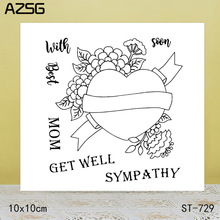 AZSG SYMPATHY Clear Stamps Cutting Dies Set for DIY Scrapbooking/photo Album Decorative Craft