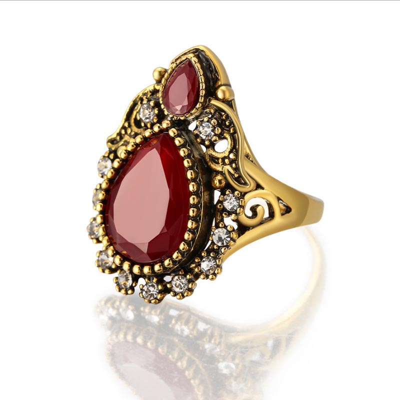 Turkey Jewelry Wholesale Vintage Rings For Women Antique Gold
