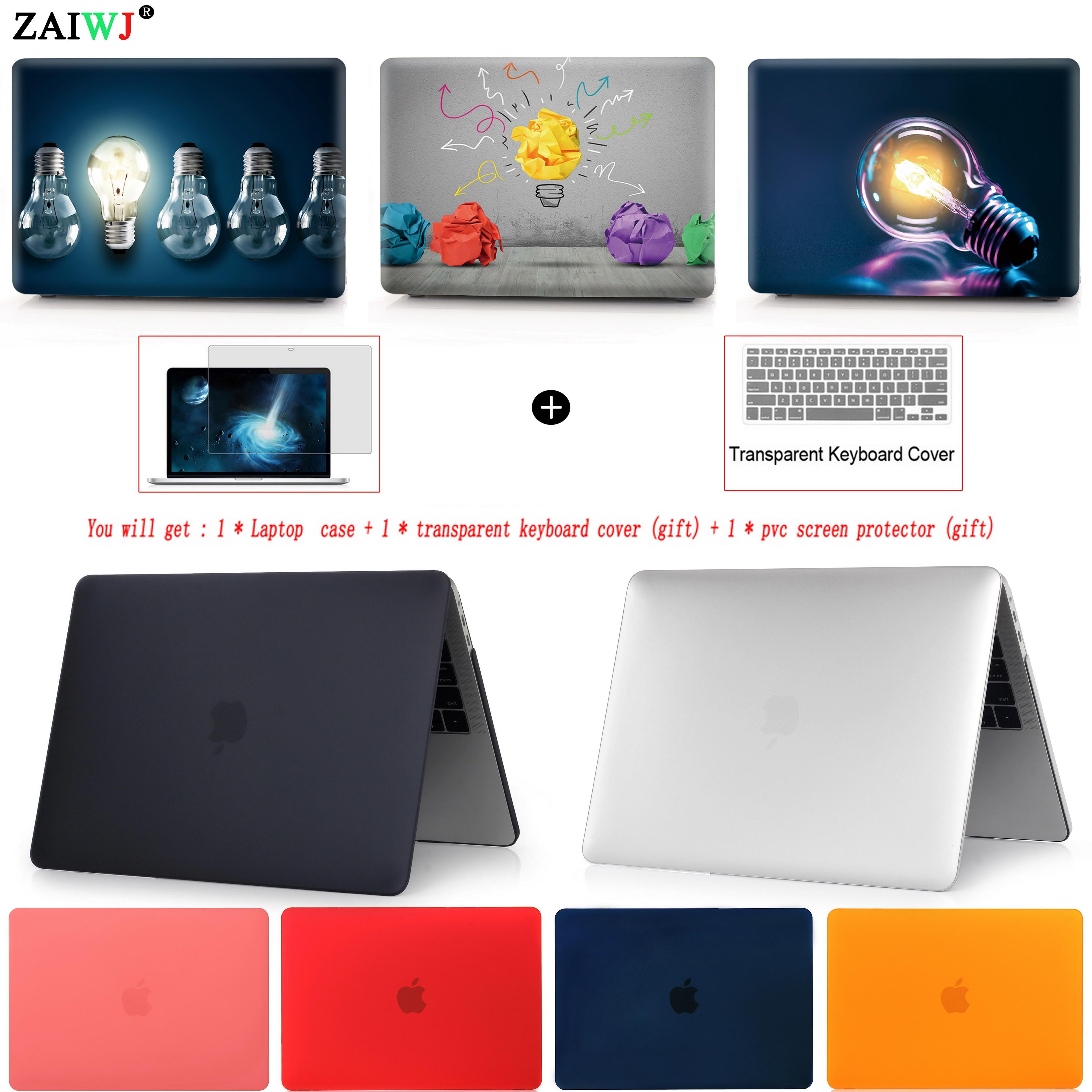 Nuevo 2018 bolsa de ordenador portátil para MacBook Air, Pro Retina, 11 12 13 15 para Mac Pro 13,3 de 15,4 pulgadas con touch Bar ID + teclado