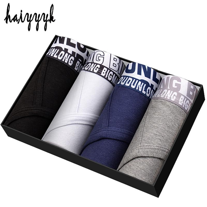 4 Pcs/Lot Gift Box New Underwear Men U Convex Underpants Briefs Cotton Luxury Breathable ...