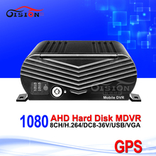 GPS HDD Hard Disk AHD 8CH Mobile Dvr Video/Audio Recorder Record GPS Track And Speed Bus Car Dvr Blackbox Motion Detection