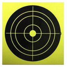 50 PCs New Trend  Splatter Targets Card Paper Arrow Rifle Pistol Gun BB Airsoft Shooting Targets Fluorescent Yellow Impact
