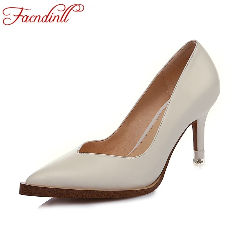 new genuine leather shoes woman pumps 2017 spring summer sexy high heels pointed toe women dress party office ladies shoes pumps фильтр для воды atoll a 560e a 550 std
