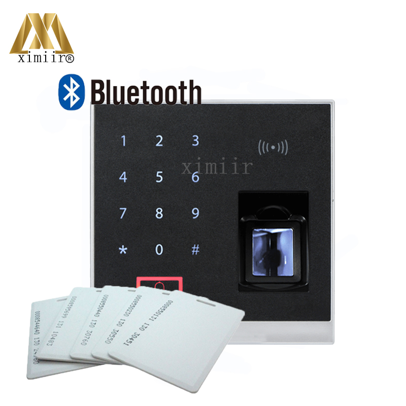 X8-BT Fingerprint And RFID Card Access Control With Bluetooth 500 Fingerprint Capacity Innovative Biometric Fingerprint Reader biometric face and fingerprint access controller tcp ip zk multibio700 facial time attendance and door security control system