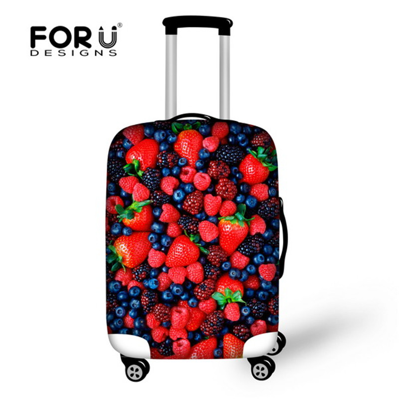 FORUDESIGNS Travel Luggage Suitcase Protective Cover for Trunk Case 18''-28'' Suitcase Cover Thick Elastic Luggage Dust Cover charming faux ruby heart wing tassel hollowed lace necklace for women